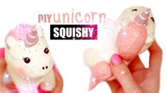 DIY UNICORN SQUISHY Homemade Squishies, Cute Squishies, Weekend Crafts, Printable Birthday Invitations, Play Dough, Diy Toys, Sleepover, Stress Relief, Slime