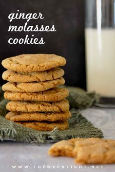 Soft Ginger Molasses Cookies | Perfect simple recipe for the holidays. Make ahead and freeze dough balls. Soft, chewy and full of the flavor of the holidays. #ginger #molasses #cookierecipe #Christmascookies Donut Recipes, Dessert Recipes, Desserts, Amazing Cookie Recipes, Ginger Molasses Cookies, Easy Meal Plans, Winter Food, Winter Treats, Toasted Pecans