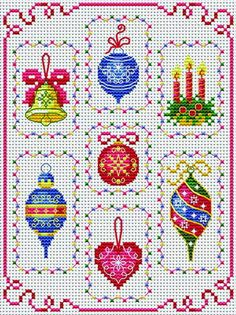 Tiny Decorations.  Tons of FREE CROSS-STITCH PATTERNS at this site: cross-stitchers-c...      Plus, if you click on this link, cross-stitchers-c... , you'll automatically receive a gift when you subscribe. I use this site all the time; there are hundreds of all different types of patterns, and there are new patterns added everyday. It's really worth a look.
