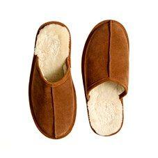 Fleece-lined slippers