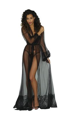 Shop our gorgeous floor-length negligees and underwear designs, each exquisitely handmade. Up your lingerie game with some vintage style Hollywood glamor! Pretty Lingerie, Black Lingerie, Beautiful Lingerie, Sheer Lingerie, Lingerie Set, Sheer Underwear, Ropa Interior Babydoll, Sr1, Lingerie Outfits