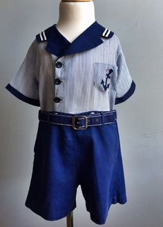 1920's/ 1930's Boy's Sailor Suit by FrannyZooeyClassics on Etsy