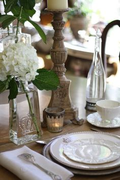 Roses and Rust: Of Water and Wine and Pretty Tables....