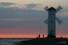 Stawa Mlyny, Poland, Swinoujscie, sky, red sky, sea, landscape, sunset,