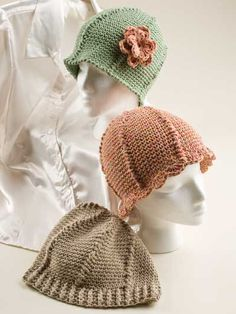 Crochet - Accessory Patterns - Hats, Hoods & Head Warmers - Stitches of Love Chemo Hats - Crochet Chemo Caps Pattern