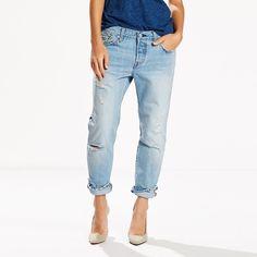 Women's Levi's® 501® CT Boyfriend Jeans, Size: 8/29 Avg, Light Blue