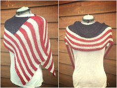 Top 5 4th of July knitting patterns: Independence shawl by Alyssa. Download at LoveKnitting!