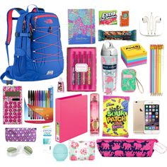 What's in my bookbag! by annanich4 on Polyvore featuring polyvore, fashion, style, The North Face, Vera Bradley, Topshop, Forever 21, Post-It, Lilly Pulitzer, Paper Mate, PhunkeeTree and Tervis