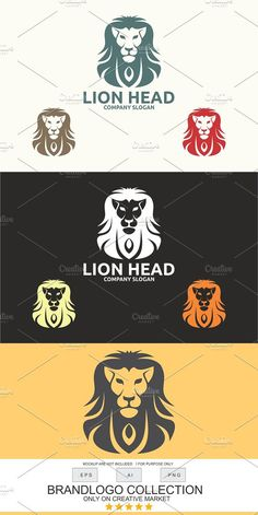 by Brandlogo in Templates Logos Logo Template Features AI and EPS (Illustrator 10 EPS) CMYK Scalable Vector Files Easy to edit color / text Ready to Lion Logo, Creative Company, Print Fonts, Company Slogans, Text Color, Vector File, Logo Templates, Lions, The Help