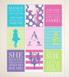 Irish dance room decor, Irish dance art, Irish ghillies, girls dance wall art, Irish dancer, pre teen girl gift, custom colors, set of 9 by PicabooArtStudio