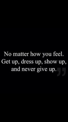"""""""Never give up! """" by Rebecca Mader (bexmader) on Twitter. LOVE IT, such a powerful reminder."""