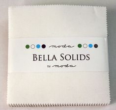 Bella Solids/ White Charm Pack/Precut/Moda by SewFabricDeals, $7.00
