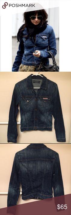 Hudson jeans denim jacket Hudson jeans Kasidy stretch denim jacket no flaws size small very comfy and chic Hudson Jeans Jackets & Coats Jean Jackets