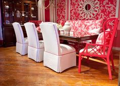 A colourful life: A tribute to Lilly McKim Pulitzer Rousseau Home Building Design, House Design, Pink Dining Rooms, Types Of Sofas, Pink Room, Furniture Collection, Interior Inspiration, Room Inspiration, Home Furniture