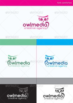 Buy Owl Media Creative Agency by Rommydc on GraphicRiver. Owl Media Creative Agency is a logo that can be used by designers, studios and web design agencies, software companie. Logo Design Template, Logo Templates, Owl Logo, Web Design Agency, Wise Owl, Animal Logo, Creative Design, Fonts, Letters