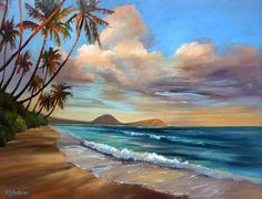 """Painting """"Day's End"""", 30""""x 40"""" by plein air painter Susie Y. Anderson."""
