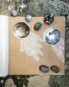Sketchbook page by _marzipann_ on Instagram #watercolor #sketchbook #drawing…