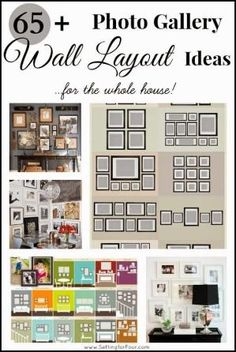 Not sure how to hang your colletion of pictures? Get lots of inspiration and tips here: 65 Plus Amazing Photo Gallery Wall Layout Ideas ~ For the Whole House at Setting for Four by liza