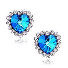 Women's  Star sapphire earrings E408 – USD $ 0.99