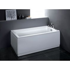 EAGO AM172 67 inches White Acrylic Corner Whirlpool