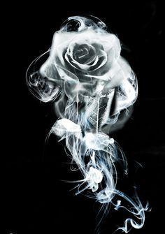 Smoke Rose by WizardOfWizardry on DeviantArt Skull Rose Tattoos, Skull Girl Tattoo, Skull Tattoo Design, Body Art Tattoos, Badass Drawings, Dark Art Drawings, Rauch Tattoo, Photoshop Art, Actions Photoshop