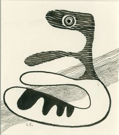 桂ゆき画額 Yuki Katura ペン 紙 サイン 裏面にギャラリーシール 14.5×12.5 額面34.5×32.5 ¥52,500