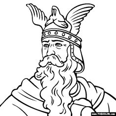 leif eriksson coloring page