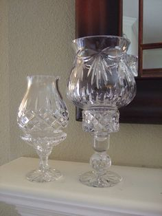 Set of 2 Hurricane Fairy Lamps or Candle Holders by Knight and Nole, $48.00