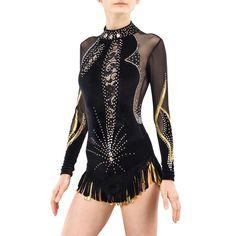 Rhythmic Gymnastics Leotard #195 for Competition | Order as Ice Figure Skating Dress, Acrobatic Gymnastics Costume or Baton Twirling Leotard by Modlen on Etsy https://www.etsy.com/listing/522112105/rhythmic-gymnastics-leotard-195-for
