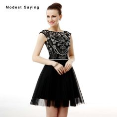 Find More Cocktail Dresses Information about 2017 New Elegant Black Short  Cocktail Dresses with Beaded Bodice 664d956cf161