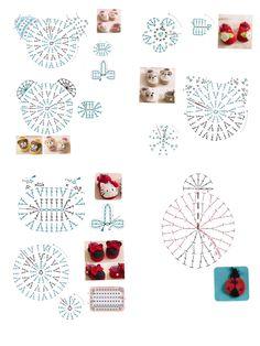 80 Patrones para hacer zapatitos, botines y zapatillas de bebés en crochet (free patterns crochet sandals babies - Salvabrani Marque-pages Au Crochet, Chat Crochet, Crochet Motifs, Crochet Diagram, Crochet For Kids, Crochet Stitches, Crochet Patterns, Easy Crochet, Crochet Baby Sandals