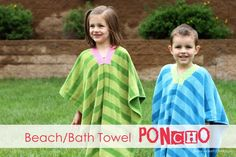 Beach towel ponchos