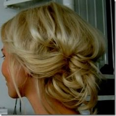 Messy Bridesmaid hair