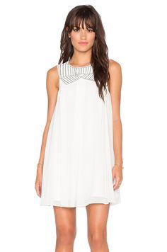 BCBGeneration Woven Dress in Whisper White