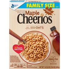 Find out more about our Maple Cheerios. A gluten free breakfast cereal with the whole grain goodness of Cheerios that your family will love. Cheerios Cereal, Oat Cereal, Crunch Cereal, Breakfast Cereal, Cereal Boxes, Free Breakfast, General Mills, Healthy Sweet Snacks, Nutritious Snacks