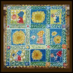 Sue Cracks Up wall quilt. Batiked with traditional tools and hot wax, this won a second place at California State Fair and was juried into Pacific International Quilt festival.