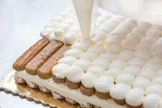 Rețeta de Tiramisueste, poate, cea mai populară rețetă de desert italiană, la baza căreia stau biscuții Savoiardi (pișcoturile) bine înmuiați în cafea concentrată și straturi de cremă pe bază... Romanian Food, Tiramisu, Marsala, Vanilla Cake, Bakery, Recipies, Food And Drink, Cooking Recipes, Sweets