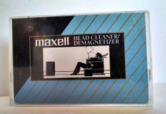 Keep Them Heads Clean! w/ Maxell Audio Cassette Tape Headcleaner/Demagnetizer