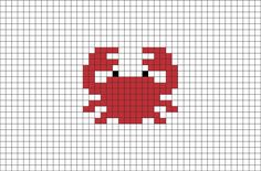 Crab Pixel Art from BrikBook.com #Crab #Animal #pixel #pixelart #8bit Shop more designs at http://www.brikbook.com