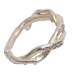 Silver Two Strand Diamond Set Ring from notonthehighstreet.com