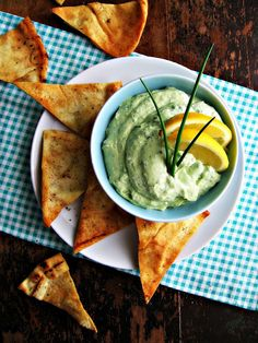Creamy Kale & Avocado Dip - you'd never guess cottage cheese is the secret ingredient!