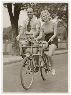 Malvern Star Side By Side tandem  , 1930's Australia..  Photo By Sam Hood