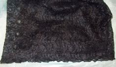 Black Lace sewing fabric Halloween costume dress apparel 58 X 55 inches long #Unbranded