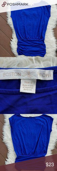 BOSTON PROPER Blue Drop Waist Top BOSTON PROPER Blue Drop Waist Top. Excellent condition.   Size S Boston Proper Tops Blouses