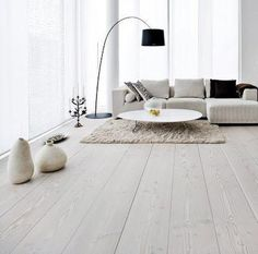 If you want to liven up your home for spring, wood flooring can transform each room and update tired decor in a flash. Wood floors add instant panache to living rooms, update old fashioned bathrooms, boring bedrooms and hapless hallways. Flooring, Room Flooring, Room Design, Interior Design, White Floors, Home, Interior, Rustic Wood Floors, White Wood Floors