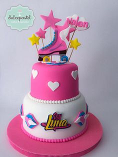 Torta Soy Luna Cake - Cake by Giovanna Carrillo Soy Luna Cake, Roller Skate Cake, Bolo Panda, Bolo Fack, Roller Skating Party, Gateaux Cake, Son Luna, Birthday Cake Girls, Birthday Cakes