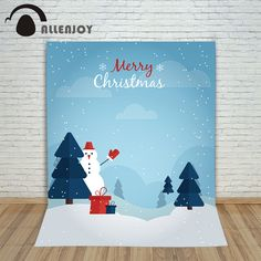 >> Click to Buy << Christmas photographic background Snowman tree presents snowflakes new year photo cloth new fabric children #Affiliate