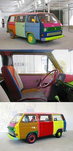 Volkswagen T3 T25 VANAGON VW: T3 mosaic - multicolor