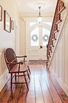 For lots of people, farmhouse interior style means old-fashioned and outdated appearance. The truth is: a farmhouse interior can be both. Farmhouse Renovation, Farmhouse Remodel, Farmhouse Interior Doors, Old Home Renovation, Foyers, Abandoned Mansion For Sale, Abandoned Mansions, Abandoned Houses, Victorian Farmhouse