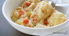 Slow cooker chicken and dumplings - CherylStyle
